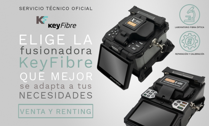 Fusionadoras de fibra óptica KeyFibre
